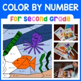 Color by Number (Second Grade) Color by Addition and Subtraction