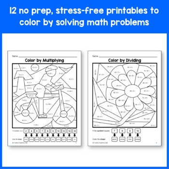 Color by Number (Third Grade) Color by Multiplication and Division