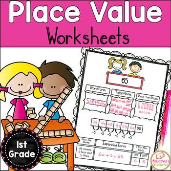 Place Value Worksheets First Grade By Nastaran Tpt