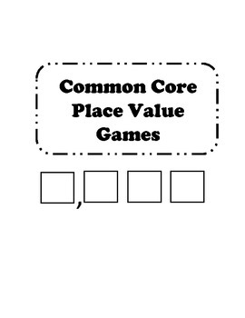 Common Core Place Value Math Activities