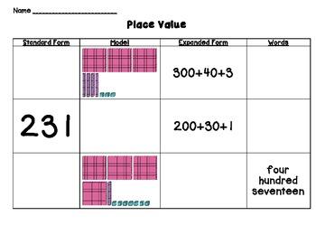 Common Core Place Value Sort