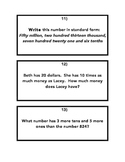EnVision Math Topic 1 Place Value Task Cards 5.NBT.1 and 5.NBT.3