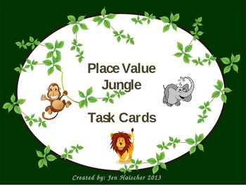 Common Core Place Value Task Cards with a Jungle Theme