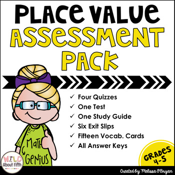 Place Value Through Billions Assessment Pack - Common Core Aligned