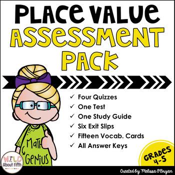 Place Value Through Billions Assessment Pack