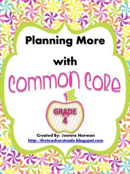 Common Core Planning Checklists (Fourth Grade)