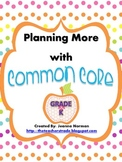Common Core Planning Checklists (Kindergarten)