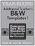 Common Core Playbook for Success:  YEAR ROUND Teacher B&W