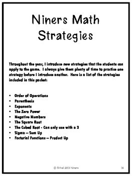 Common Core - Playing With the Standards for Mathematical Practice