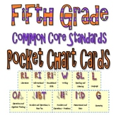 Common Core Pocket Chart Cards for Fifth Grade (I will . . )  Modern Font
