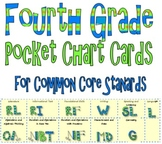 Common Core Pocket Chart Cards for Fourth Grade