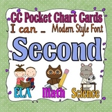 Common Core Pocket Chart Cards for Second Grade (I can . .) modern font