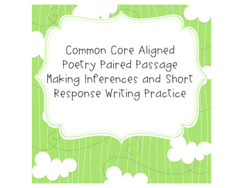 Common Core Poetry Inferences and Comparison