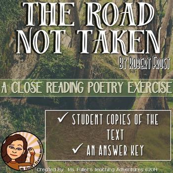 Common Core Poetry Practice Grades 6-8: The Road Not Taken