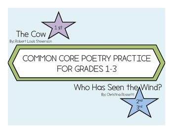 Elementary School Poetry Practice Grades 1-3