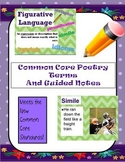 Common Core Poetry Terms and Guided Notes
