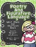 Common Core Poetry and Figurative Language Unit- 3-4-5 Les