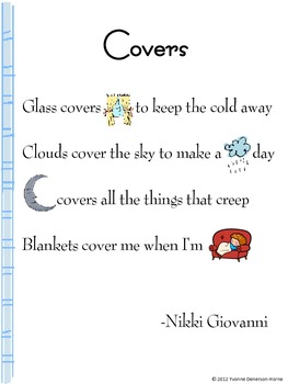 Common Core Poetry for K-1st Grade