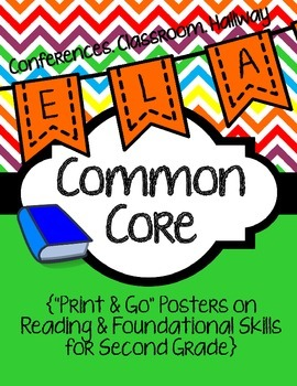 Common Core Poster Packet {2nd Grade Reading: Foundational