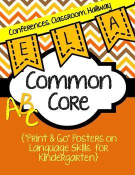 Common Core Poster Packet {Kindergarten Language}