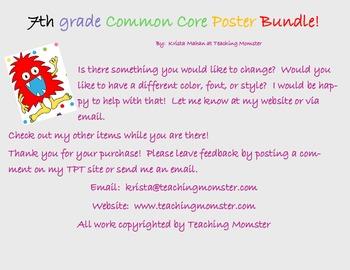 Common Core Poster set ELA--7th grade