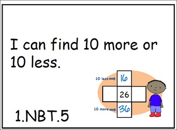 Common Core Posters - 1st Grade - ELA and Math (FULL PAGE)