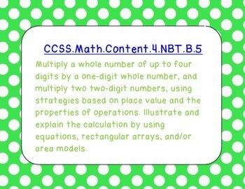 Common Core Posters--4th grade, Math