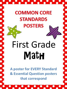 Common Core Posters AND Essential Questions Posters - First Grade MATH