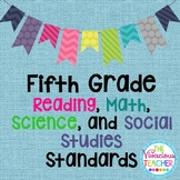 Common Core Posters Bundle Fifth Grade Reading, Math, Science, Social Studies