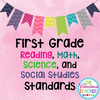 Common Core Posters Bundle First Grade Reading, Math, Scie