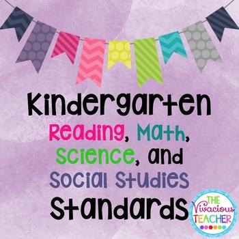 Common Core Posters Bundle Kindergarten Reading, Math, Sci