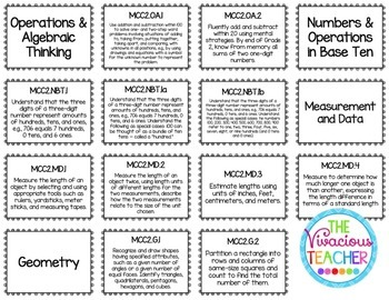 Common Core Posters Bundle Second Grade Reading, Math, Science, Social Studies