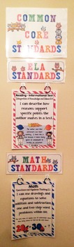 Common Core Posters - I Can Statements Math & ELA (2nd Grade) - Full Page Size