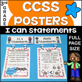 Common Core Posters - I Can Statements Math & ELA (3rd Grade) - Full Page Size