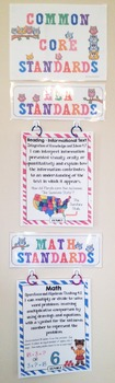 Common Core Posters - I Can Statements Math & ELA (4th Grade) - Full Page Size