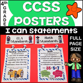 Common Core Posters - I Can Statements Math & ELA (4th Gra