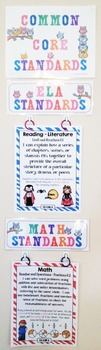 Common Core Posters - I Can Statements Math & ELA (5th Grade) - Full Page Size