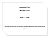 Common Core Posters Math Grade 7
