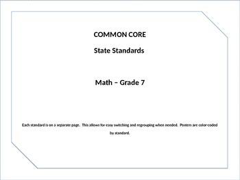 Common Core Posters Math Grade 7