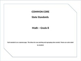 Common Core Posters Math Grade 8