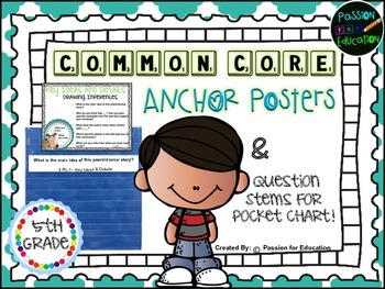 Common Core Posters & Question Stems (5th Grade)