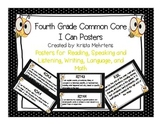 "Common Core ""I Can"" Posters for 4th grade- Polka dot and bee themed"