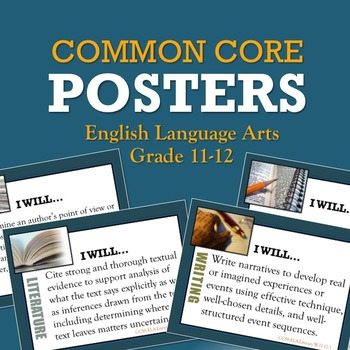 Common Core Posters for High School ELA Grades 11-12