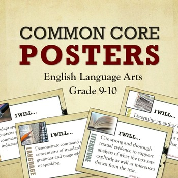 Common Core Posters for High School ELA Grades 9-10