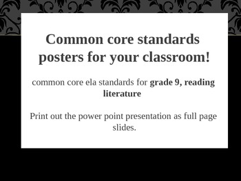 Common Core Posters for Your Classroom!