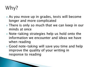 Common Core: Power Lists-Foundational Notes for Informational Texts (PowerPoint)