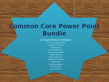 Common Core Power Point Bundle