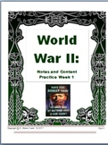 Common Core: Power Point World War II: Lesson 1-5