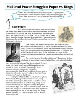 Common Core: Power Struggles in Medieval Times