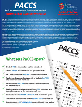 Common Core Practice Assessments ELA Grade 7 PACCS